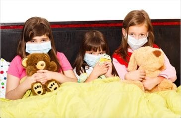 Indoor air pollution effects